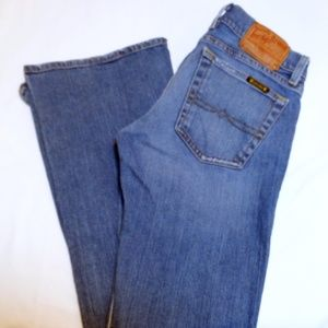 Lucky Ultra Low-Rise Flare Jeans - size 26